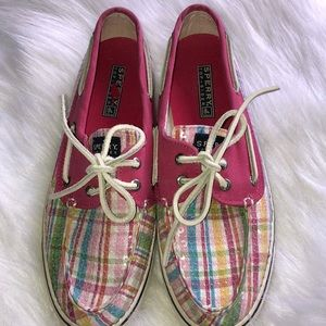 Sperry plaid sequined shoes